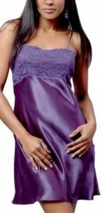 Chemise with Lace front